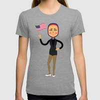Fashion Icon: Dance Womens Fitted Tee Tri-Grey SMALL