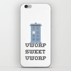 Doctor Who TARDIS Cross Stitch - Vworp Sweet Vworp iPhone & iPod Skin