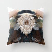 Birth//Death//Rebirth Throw Pillow