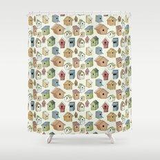 Bird Boxes Shower Curtain