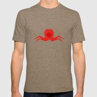 Origami Crab Mens Fitted Tee Tri-Coffee SMALL