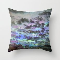 Colors Rolling in Throw Pillow