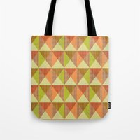 Triangle Diamond Grid Tote Bag