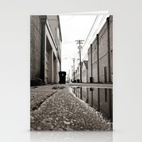 Post-rain alley Stationery Cards