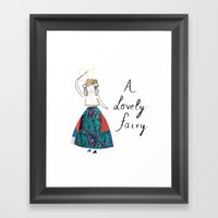 A Lovely Fairy Framed Art Print