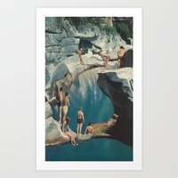 Standing At The Sea (wit… Art Print