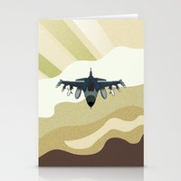 F-16 Fighting Falcon Stationery Cards