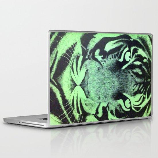 Be A Tiger (Green) Laptop & iPad Skin