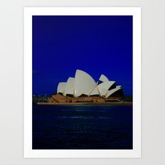 Sydney Opera Blues DPG15… Art Print