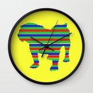 Bulldog Stripe Wall Clock