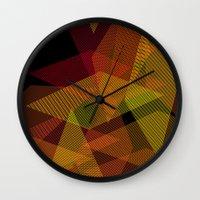On Fire Wall Clock