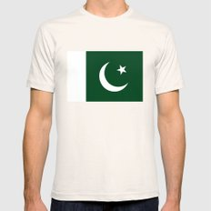 The National Flag of Pakistan - Authentic Version Mens Fitted Tee Natural SMALL