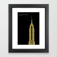 New York Skyline: Empire State Building Framed Art Print