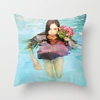 She Realized People Are Not Always What They Appear to Be Throw Pillow