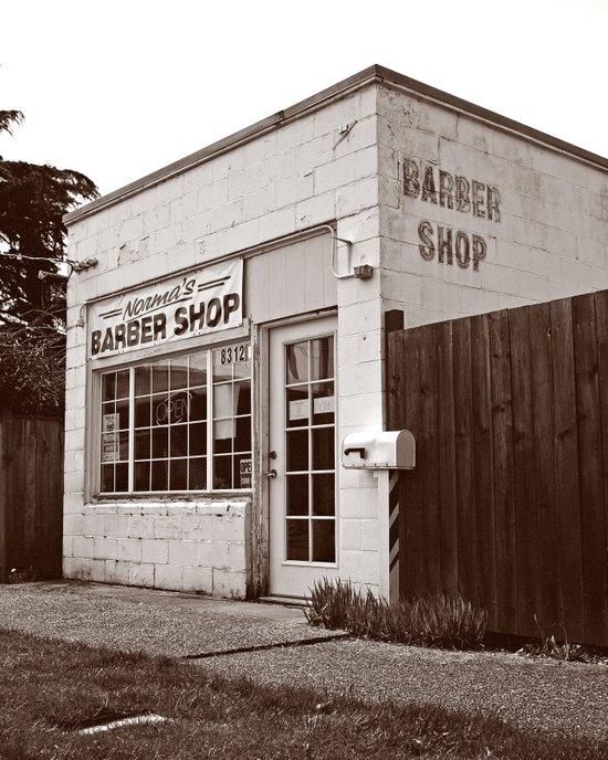 Neighborhood barber shop Art Print