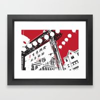 London's Chinatown Framed Art Print