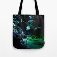 Leaf Lighting Tote Bag
