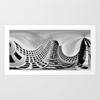 Urban City Art Print