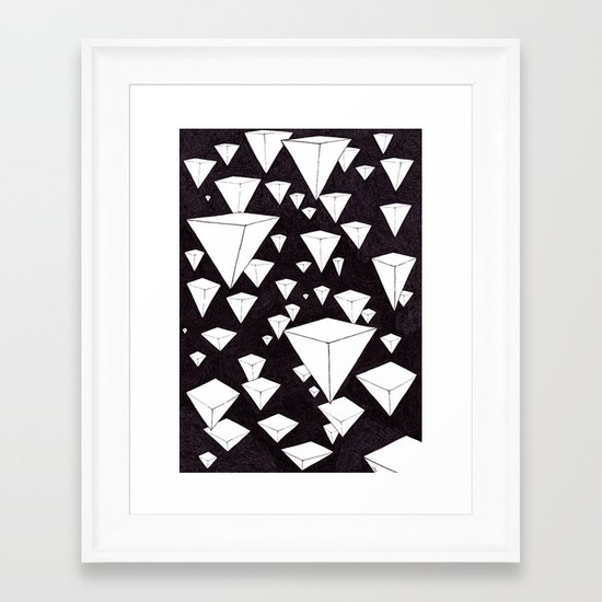 snowing pyramids II Framed Art Print