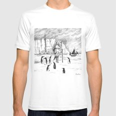 Antarctic explorer Mens Fitted Tee White SMALL