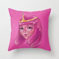 A Young Bubblegum Throw Pillow