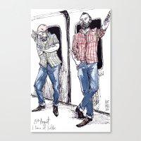 Urban Lumberjacks By Kat… Canvas Print