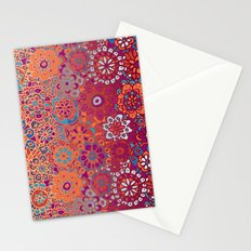 Psychedelic Ombre Flower Doodle Stationery Cards