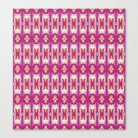 Purple Tiles 2 Canvas Print