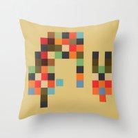 Mid Century Textile Seri… Throw Pillow