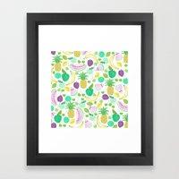 Fruit Punch Retro 2 Framed Art Print