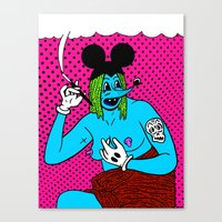 SMOKE.   (Mouseketeer). … Canvas Print