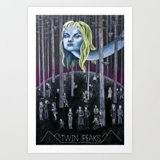 Who Killed Laura Palmer? ( Twin Peaks with Title ) Art Print