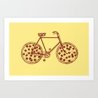 Bicycle With Pepperoni P… Art Print