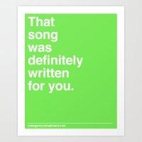 That Song Art Print