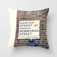 Throw Pillow featuring London Street Sign by Architect´s Eye