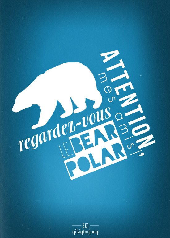 Le Bear Polar Art Print