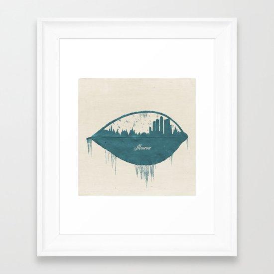 Frozen Moscow Framed Art Print
