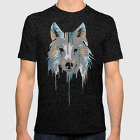 Painted Wolf Mens Fitted Tee Tri-Black SMALL