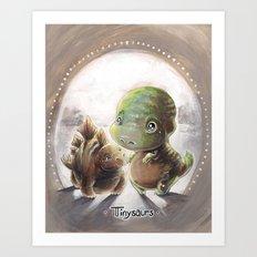 Tinysaurs Art Print