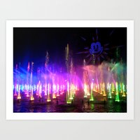 World Of Color 1 Art Print