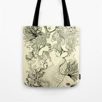 Inverted Mermaid Tote Bag