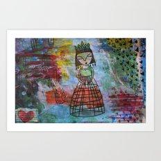 Birdcage Lady Art Print