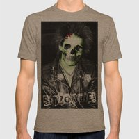 SidZOMBIE Mens Fitted Tee Tri-Coffee SMALL