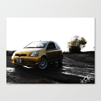 Toyota Yaris Canvas Print