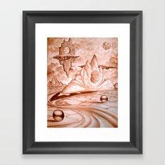 Earth Semi  Framed Art Print