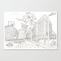 LA Canvas Print