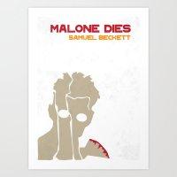 Malone Dies - Samuel Beckett Art Print
