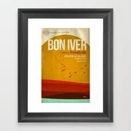 Custom Bon Iver Concert … Framed Art Print