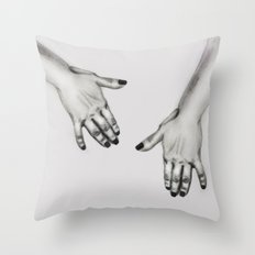 lady's hand Throw Pillow