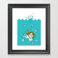 Dive In! Framed Art Print